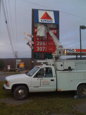 Electric sign repairs by Wurtsboro Electric Service
